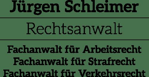 Rechtsanwalt und Fachanwalt für Strafrecht – Jürgen Schleimer